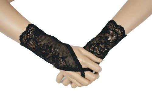 Gants Gothique, Gothic Romantic fingerless gloves, longueur 15 cm