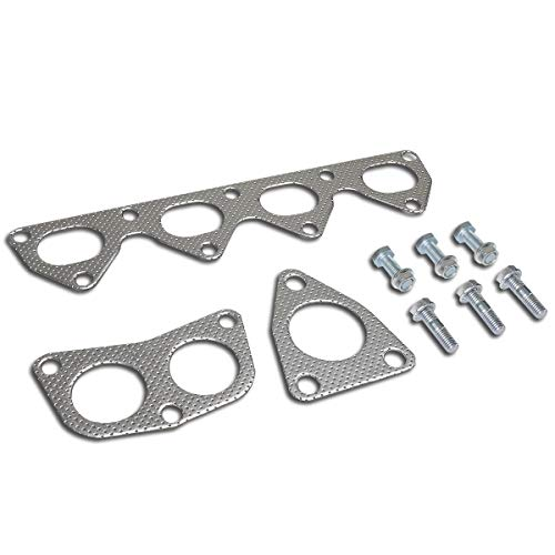 - Aluminum Exhaust Manifold Header Gasket Set for 92-01 Honda Prelude VTEC H22A1 2.2L DOHC