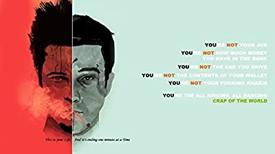 Movie Fight Club HD Wall Poster Paper Print(12 inch X 18 inch, Rolled)