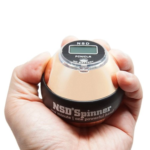 NSD Power Ultimate Winner's Precision Sterling Spinner Gyroscopic Wrist and Forearm Exerciser with Digital Speedometer, Lightweight Aluminum Rotor and Stainless Steel Shell