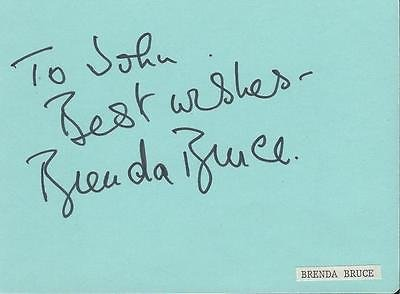 Brenda Bruce Signed Vintage Album Page The ()