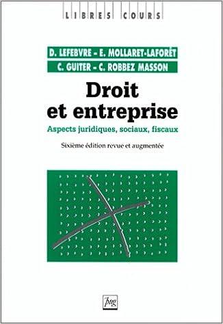 Livres gratuits Droit et entreprise, 6e édition pdf epub