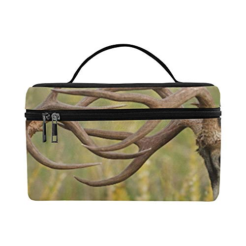 Two Mule Deer Bucks Fighting And Sparring With Hea Pattern Lunch Box Tote Bag Lunch Holder Insulated Lunch Cooler Bag For Women/men/picnic/boating/beach/fishing/school/work ()
