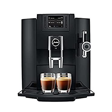 Jura E8 Automatic Coffee Machine, Piano Black
