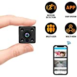 C-Xka Mini WiFi Hidden Camera, Wireless WiFi Spy Camera with Auto Night Vision Recording Motion Detection Alarm to Your Phone for Home Office Security, HD 1080P Nanny Cam fit Indoor Outdoor