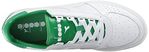 Diadora Mens B. Elite Court Shoe White/Peas Cream bFaZdzo