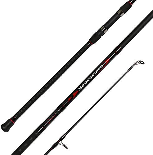 Fiblink Surf Spinning Fishing Rod 2-Piece Graphite Travel Fishing Rod 12-Feet 10-Feet