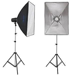 Mettle Mallorca - Kit de iluminación para fotografía (focos, difusores de luz y trípode)