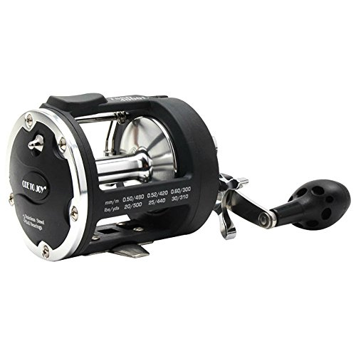 Isafish Trolling Reel With Alarm Function 3.8:1 Saltwater Freshwater Baitcasting Drum Fishing Reels Right Hand (Precision Trolling Big Water)