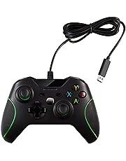 OSTENT Controle USB com fio joystick gamepad para Microsoft Xbox One/Xbox One S/Windows PC Laptop cor preta