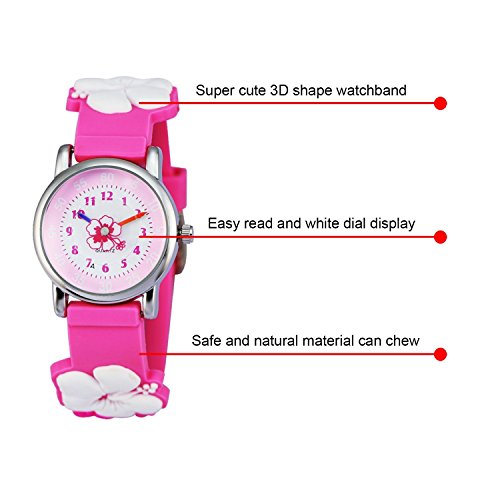 Kids Watch my first Easy Reader Wrist Watches Boys Girls Toddler Waterproof Children Time Teacher 3D Cute Cartoon Silicone Quartz Learning Gift for Little Child by Meetyoo (Image #4)