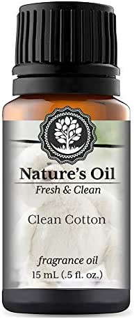 Clean Cotton Fragrance Oil (15ml) For Diffusers, Soap Making, Candles, Lotion, Home Scents, Linen Spray, Bath Bombs, Slime