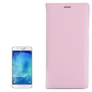 Texture lichis Leather Funda Horizontal Flip Case Carcasa con ranuras para Samsung Galaxy A8/A800 (Pink)