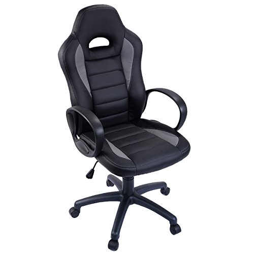 415R6fWx4SL - Giantex PU Leather High Back Executive Race Car Style Bucket Seat Office Desk Chair