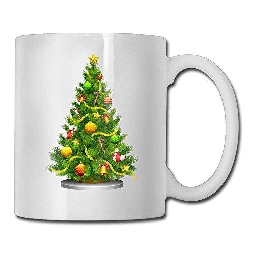 Transparent Christmas Tree Clipart 11oz Ceramic Coffee Mug Funny Birthday Christmas ()
