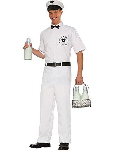 [Forum Novelties Men's 50's Milkman Costume, White, Standard] (Milk Woman Costume)