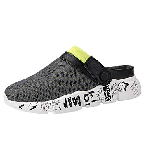 (ONLY TOP Mens Womens Mesh Sandals Garden Clog Shoes Breathable Summer Slippers Lightweight Walking Beach Sandals)