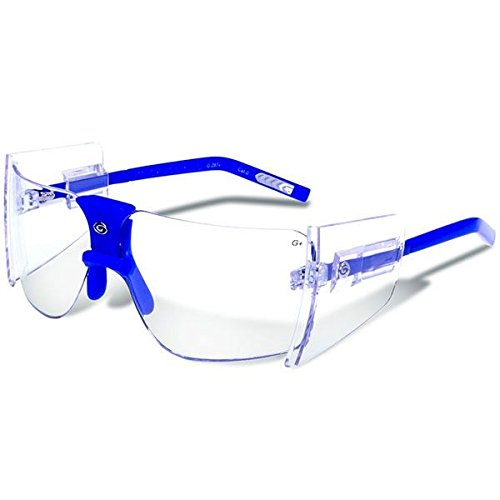 Gargoyles Performance Eyewear 85's Polycarbonate Safety Glasses, Blue Frame/Clear - Performance Eyewear