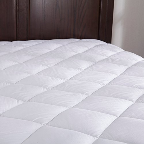 Puredown Down Alternative Mattress Pad/Topper-Fitted-Quilted-King(78X80