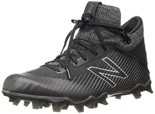 Cleat Plastic Black - New Balance Men's Freeze V2 Agility Lacrosse Shoe, Black/Grey, 10.5 D US