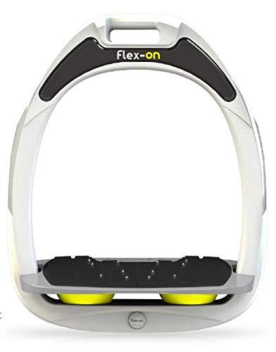 【Amazon.co.jp 限定】フレクソン(Flex-On) 鐙 ガンマセーフオン GAMME SAFE-ON Mixed ultra-grip フレームカラー: ホワイト フットベッドカラー: グレー エラストマー: イエロー 05886