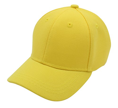 Top Level Baby Infant Baseball Cap Hat - 100% Durable Sturdy Polyester Hat, YEL]()