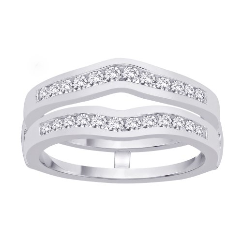 Diamond Ring Guard in 14K Whit