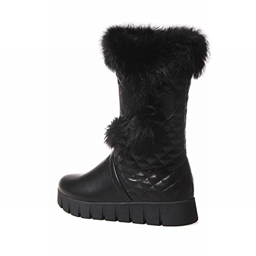 Ankel Black Platform Balls Low Snow Heel Cute Womens Show Shine Boots High afPq4H6nO