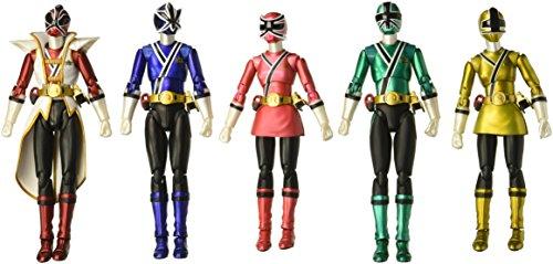 Bandai Tamashii Nations S.H. Figuarts Power Rangers Samurai SDCC 2013 Metallic Set of 5 Power Rangers Samurai Action Figure Set (Rangers Power Figuarts Sh)