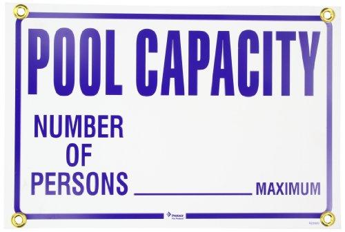 Pentair R230900 Pool Capacity Pool Sign