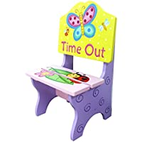 Fantasy Fields Magic Garden Thematic Kids Time Out Chair | Imagination Inspiring Hand Painted Details Non-Toxic, Lead Free Water-based Paint