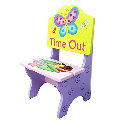 Fantasy Fields - Magic Garden Thematic Kids Time Out Chair | Imagination Inspiring Hand Painted Details Non-Toxic, Lead Free Water-based Paint