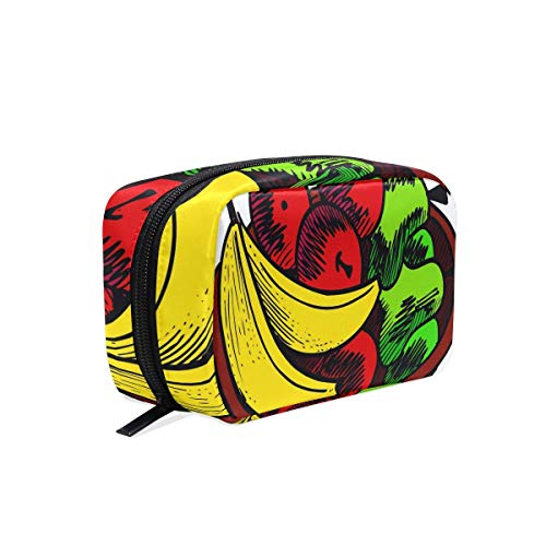 Funky Cosmetic Bag Fruit Basket Girls Makeup Organizer Box Lazy Toiletry Case
