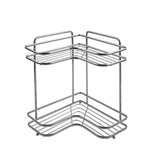 HY Washstand Sink Rack Bathroom Free Punching Tripod Desktop Two-tier Storage Rack by HY