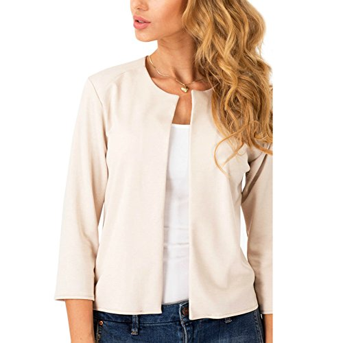 Womens Jacket Casual Blazer Apricot