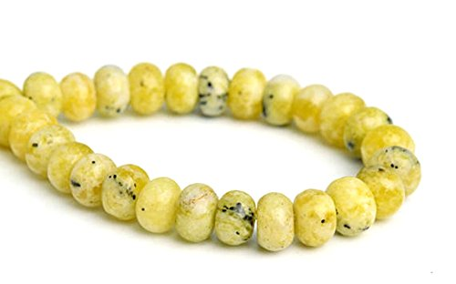 - jennysun2010 5x8mm Natural Yellow Turquoise Gemstones Rondelle Spacer Loose Beads 15.5 inches 1 Strand for Necklace Earrings Jewelry Making Crafts Design