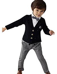 Little Love Little Boys' Blazer Jacket and Pants Two-piece wedding Suits