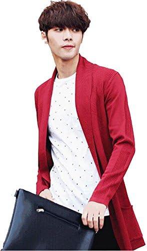 メンズ ニット コート 長袖 アウター メンズ ロングカーディガン 春 コート ニット おしゃれ 大人 人気 かっこいい シンプル 男性 通勤 通学