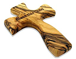 Bless This Child Olive Wood Comfort Cross