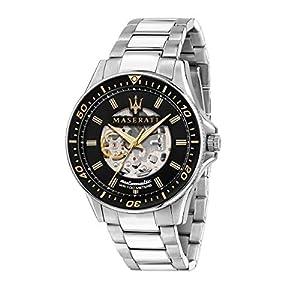 Maserati Men's Sfida R8823140002 Silver Stainless-Steel Automatic Self Wind Dress Watch