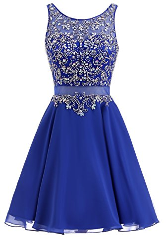 ShangShangXi Vestidos de Fiesta Plus Size Backless Beads Prom Dresses Royal Blue Gowns,US16