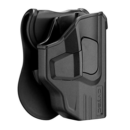 Taurus G2C Holsters, OWB Holster For Taurus Millennium G2 PT111 PT132 PT138 PT140 PT145 PT745(No Pro), Polymer Technical Outside The Waistband Carry Belt Holster With 360° Adjustable Paddle-Right - Holster Paddle Hand Right