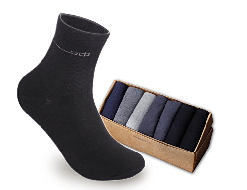 mens 100 cotton dress socks - 4