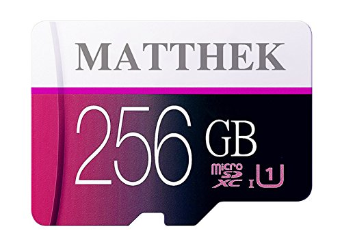 Matthek 256GB Micro SD SDXC Memory Card High Speed Class 10 With Micro SD Adapter(M239-U5) by Matthek