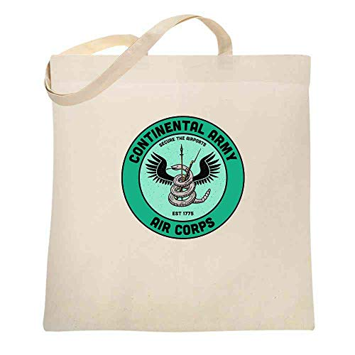 Continental Army Air Corps 1775 Funny Airports Revolutionary War Natural 15x15 inches Canvas Tote Bag