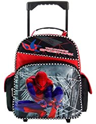 Small Black Spiderman Rolling Backpack - Spiderman Small Rolling Backpack
