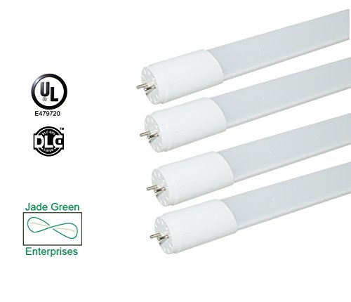 Jade Green Led (2 Foot T8 LED Tube Light 9 W 4 Pack, 5000K (Daylight), 1080 Lumens (120 Lm/W), Single End Power, UL Listed, DLC Listed)