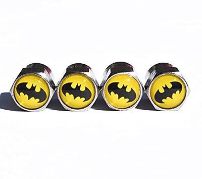 Batman Tire Valve Stem Caps - Chrome Surface - Set of Four