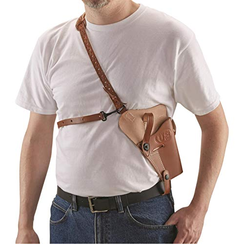 Adirondack Leather Military-Style Shoulder Holster, 1911A1 .45/ Beretta 92F 9mm, Right Hand