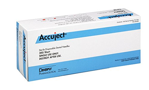 Needles Hub Plastic - Accuject Needle Plastic Hub Sterile Disposable 30 Gauge Short Color Coded 100/Box